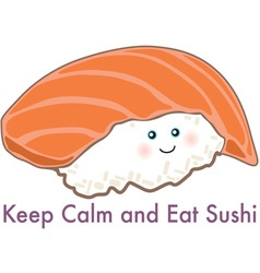 Eat sushi vector
