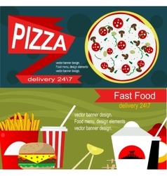 Fast food banner design concept vector