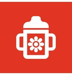 Feeding cup icon design Baby bottle Feeding cup vector image