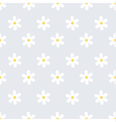 Flower and daisy seamless texture vector