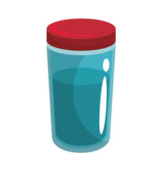 Food bottle icon vector