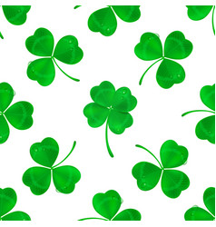 four-leaf clover seamless pattern background vector image