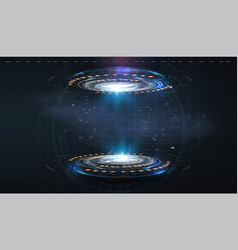 futuristic circle hud gui ui interface vector image
