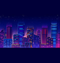 futuristic night city vector image