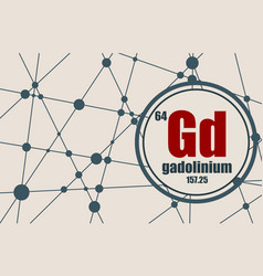 gadolinium chemical element vector image