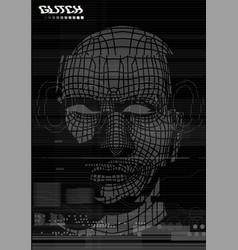 Glitch screen head face test screen vector