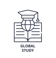 global study line icon concept global study vector image