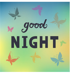 Good night for logotype flyer poster banner card vector