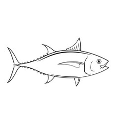 Graphic tuna on white background vector