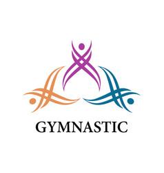 gymnastic sport logo vector image