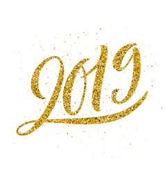happy new 2019 year greeting vector image