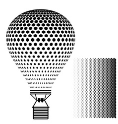 Hot air balloon black silhouette vector