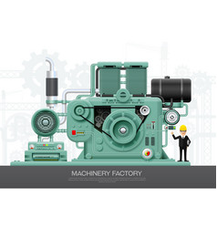 Industrial machine engine factory construction vector