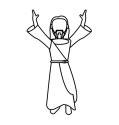 Jesus christ prayer devotion outline vector
