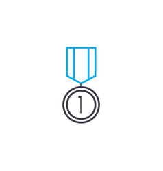 leadership medal thin line stroke icon vector image