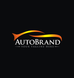 luxury car automotive logo template vector image
