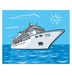 Luxury cruise liner vector