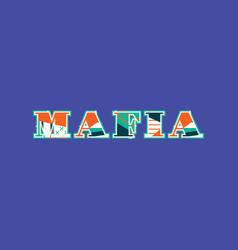 mafia concept word art vector image