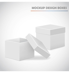 mocup boxes vector image