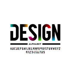 modern style font design alphabet letters and vector image
