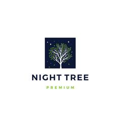 night tree logo icon vector image