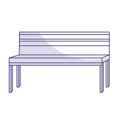 Park bench isolated icon vector