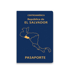 Passport el salvador citizen id template vector