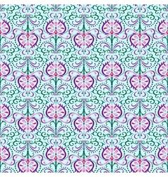 Pattern Oriental Flowers vector