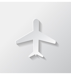 Plane airplane icon vector image