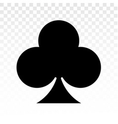 Playing poker a flat club card icon vector