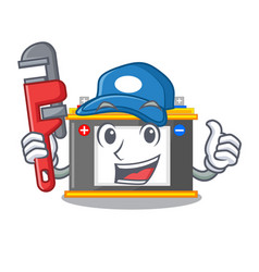 Plumber miniature accomulator in the a shape vector