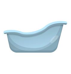 Retro bathtub icon cartoon style vector
