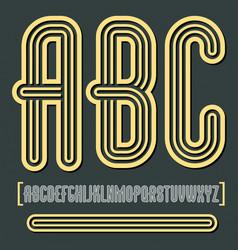 retro vintage capital english alphabet letters vector image