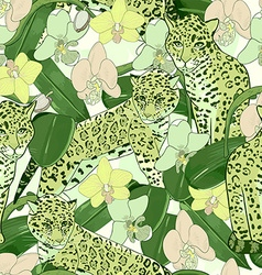 Seamless pattern of exotic flower orchid and vector image