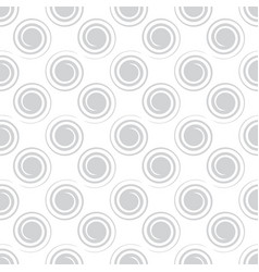 Seamless spiral pattern light gray color vector