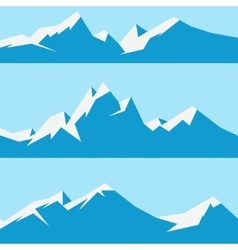 Set snowy mountains vector