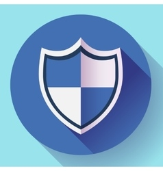 shield icon - protection symbol Flat design style vector image