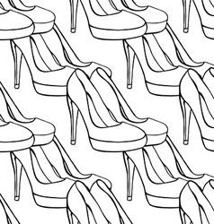 Shoe Pattern Background vector