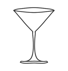 Silhouette monochrome with martini glass vector