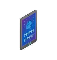 smartphone biometric fingerprint security modern vector image
