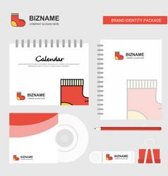 socks logo calendar template cd cover diary and vector image