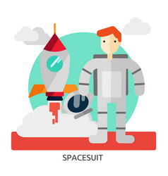Space spacesuit image vector