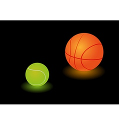 Sports lamps vector image vector image