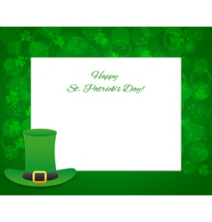 St Patricks day background with card vector image