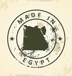 Stamp with map of Egypt vector image
