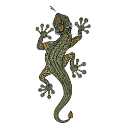 Stylized fantasy patterned lizard Ethnic vector image