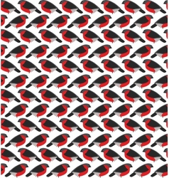 Stylized seamless pattern with bullfinches vector image