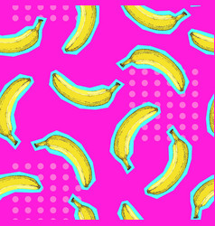 summer seamless bright pattern with banana vector image