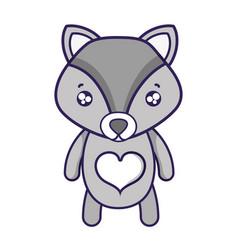 tender fox cute wild animal vector image