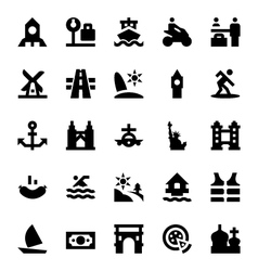 Tourism and Travel Icons 10 vector